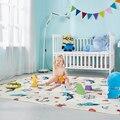 Dobrável bebê atividade esteira xpe à prova dxágua brinquedos jogar esteira crianças tapete de espuma macio playmat para o jogo do miúdo cobertor almofada de dormir para o bebê