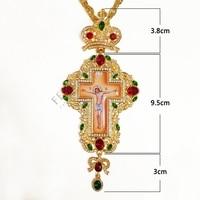 عالية الجودة الصدرية الصليب الأرثوذكسية يسوع الصليب المعلقات الراين سلسلة مجوهرات الدينية الباستر الصلاة البنود