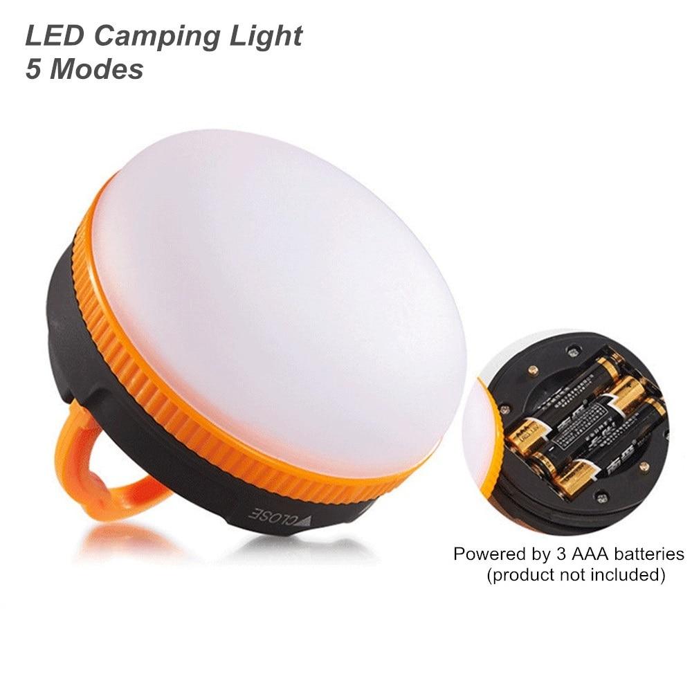 Mini LED Portable Camping Lamp Lantern Night Light Waterproof 3W 5 Modes LED Camping Light Warm White Outdoor Emergency Lamp