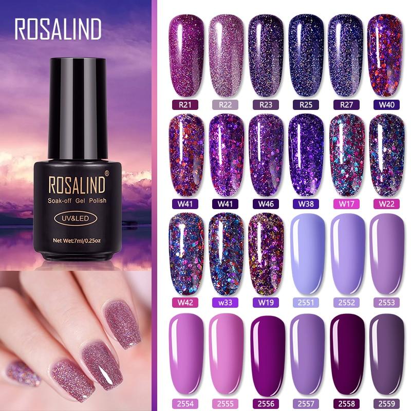 ROSALIND Gel Nail Polish Nail Art Vernis Semi Permanant UV Primer Manicure 7ML Top Coat Primer Gel Lak Hybrid Nail Polishes(China)