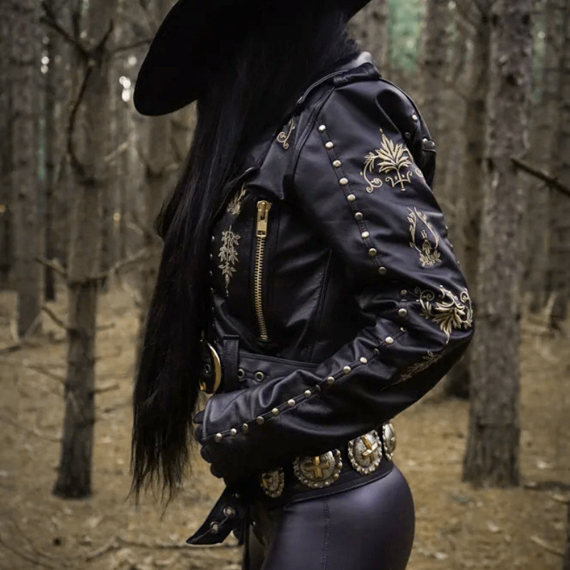 Factory direct sales 2019 fashion brand Street punk embroidery pu   leather   jackets motorcycle rivet beading   leather   jackets