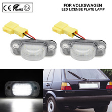 цена на A Pair LED license plate lamp LED number plate light Car Accessories For VW Seat Toledo I VW   Golf II Jetta II