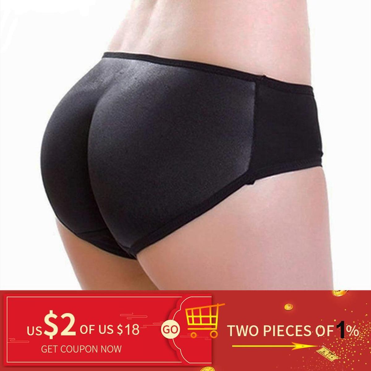 Women Padded Butt Lifter Panty Body Shaper Hip Enhancer Push up Black Briefs USA