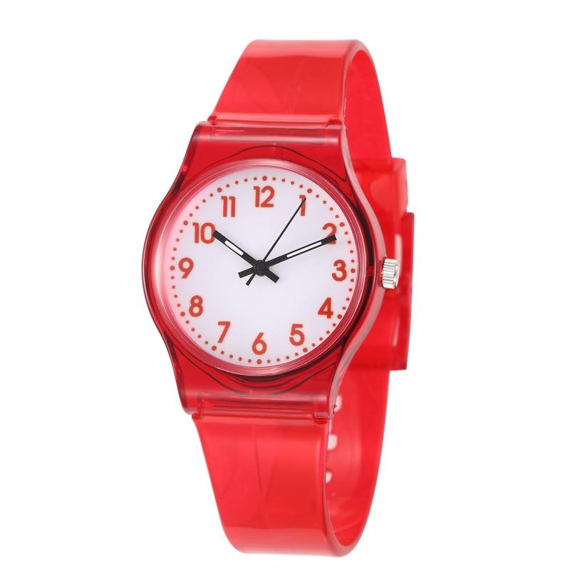 Children Watches Fashion Casual Transparent Watch Jelly Kids Boys Watch Girls Watches Clock Waterproof Relogio Montre Enfant