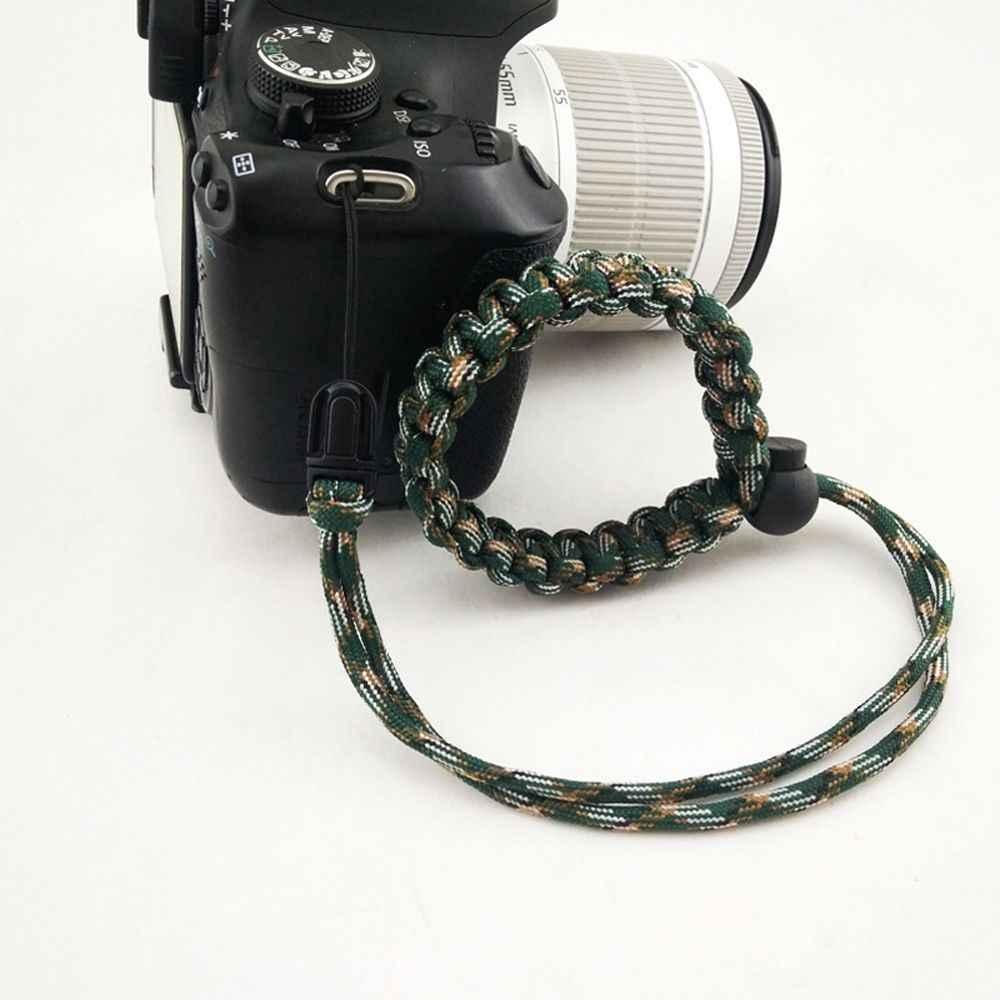 Nylon Dây Mới Xuất Hiện Có Thể Điều Chỉnh Chống Mất Bện Dây Sinh Tồn Paracord Kỹ Thuật Số Dây Đeo Tay Cầm Cho Pentax Sony Nikon DSLR