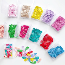50Pcs/Box Korean Candy Color BB Hair Clips Metal Snap Hairpin Cute 3cm Headdress Accessories Girls Waterdrop Solid Hairgrip