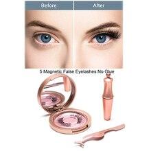 Magnetic eyelashes 5D Eyeliner Magnets Double Layer False Eyelashes Magnetic  No Glue Natural Soft Fake Eyelashes Extension