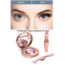 Magnetische wimpern 5D Eyeliner Magneten Doppel Schicht Falsche Wimpern Magnetische Kein Kleber Natürliche Weiche Gefälschte Wimpern Verlängerung