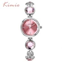 2015 luxury women bracelet watches high quality brand KIMIO quartz