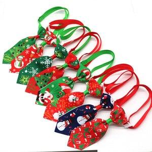 Image 2 - 100 шт., рождественские аксессуары для собак, ошейники для собак, кошек, галстуки бабочки, рождественские товары для домашних животных, ошейники для собак, аксессуары для домашних животных