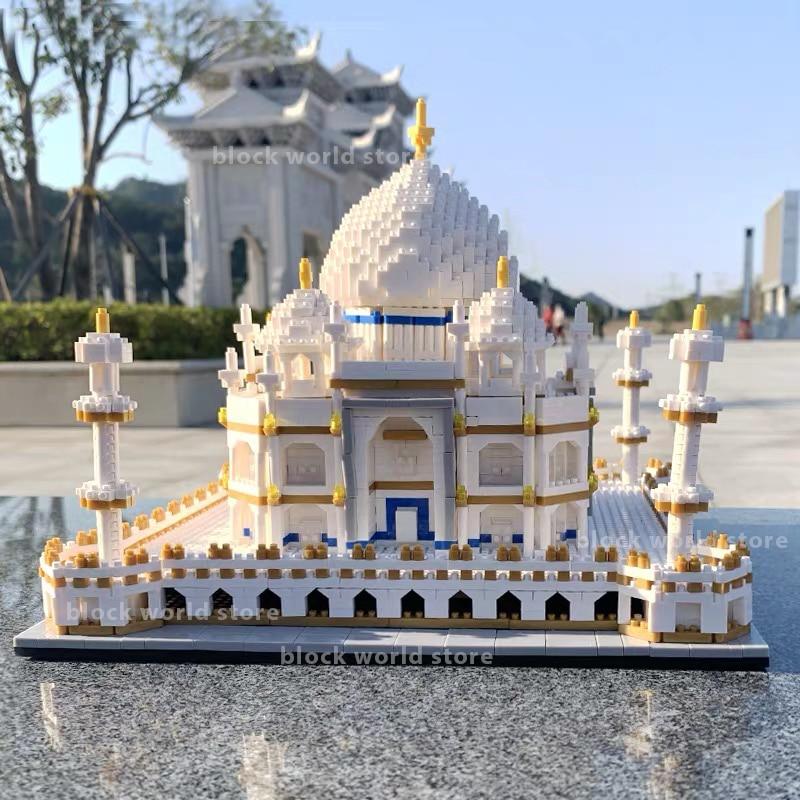 Architecture Set Creator 3950PCS Landmarks Taj Mahal Model Building Block Mini Blocks World Famous Toys For Children 10189