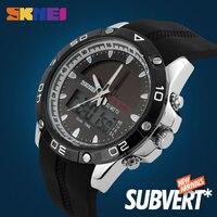 SKMEI Dual Time Display uomo orologio al quarzo digitale cronografo 50M orologio impermeabile uomo orologi sportivi Smart Watch per iOS 1064