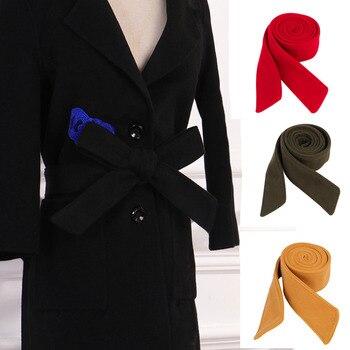 170cm*5cm Women Girls Woolen Belt  Solid Color Waist Band Trench Coat Overcoat Jacket Accessories Unisex Sash Tie
