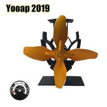 Yooap [2019 update version] automatically starts 4 wings mute physics advanced environmental aluminum fireplace fan