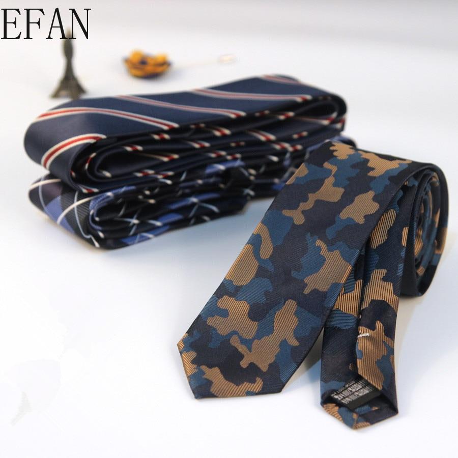 6cm Men Camouflage Navy Blue Classic Ties For Bridegroom Slim Striped Floral Neck Ties For Wedding Tie Skinny Groom Tie For Men