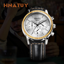 Hnatuy Men's Watches 50M Water Resistance Waterproof Clock Fashion Stainless Ste