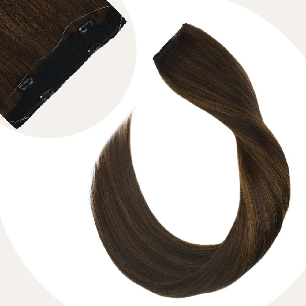 Flip On Hair Extensions Brazilian Straight Human Hair Extensiosn 12-22
