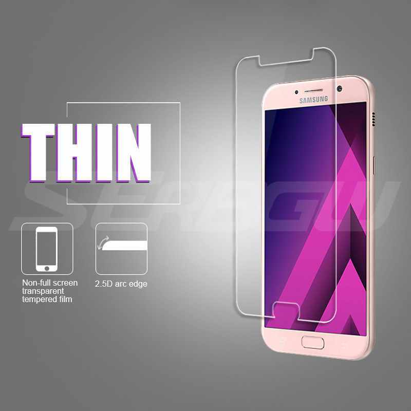 9H Protective Glass For Samsung Galaxy A3 A5 A7 2015 2016 2017 A6 A8 Plus A9 2018 Screen Protector 9H 2.5D Tempered Glass