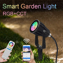 Miboxer 6W RGB+CCT Smart LED Garden Light FUTC04 AC100~240V IP66 Waterproof led Outdoor lamp Garden Lighting Highlight Turf lamp