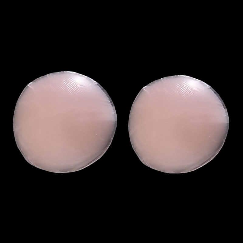 Venda quente por atacado 2 pces/1 par silicone mamilo capa almofada do sutiã pele esparadrapo reutilizável invisível pétalas de mama para vestido de festa
