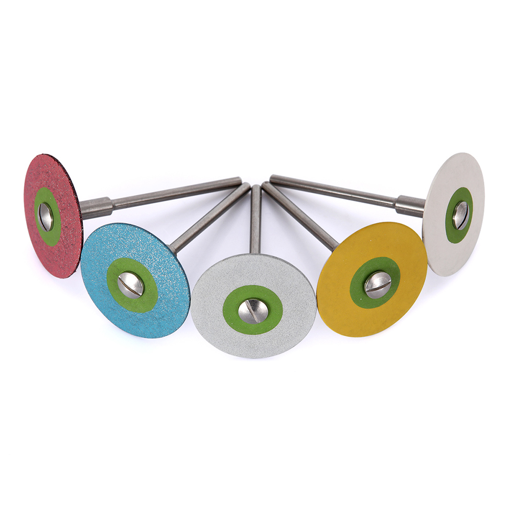 1PC Dental Stones Wheel Grinder For Zirconia Ceramics (HP) 26mm Metal Dental Rubber Diamond Polisher Wheel Disc For Porcelain