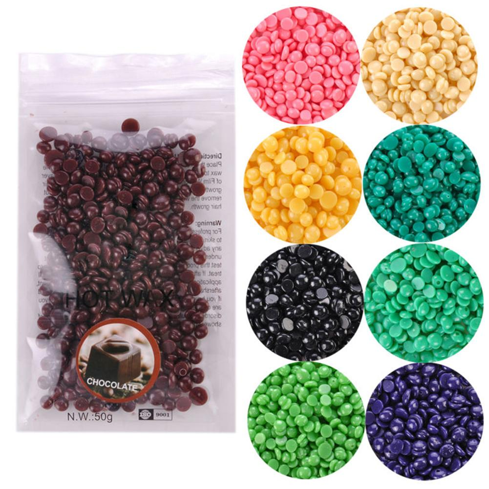 100g Hard Wax Beans Hair Removal Female Waxing Hard Wax Beans Painless Body Hair Removal Hot Bikini Depilatory No Strip Pellet
