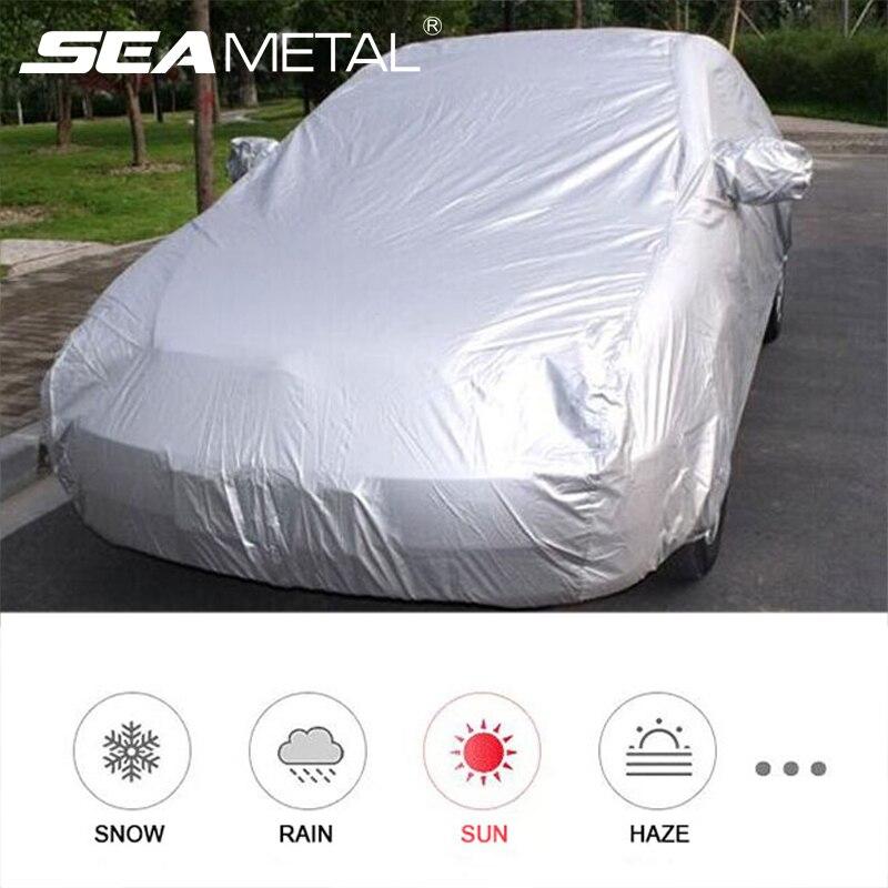 Cubierta impermeable para coche, cubiertas para coches al aire libre, cubierta completa para coche, protección resistente al polvo y a la nieve, protección resistente Universal para Hatchback Sedan SUV