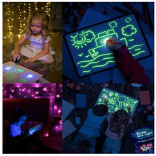 LED Luminous Light Drawing Board Graffiti Doodle Drawing Tablet Magic Board Draw with Light Kids Painting Fun Educational Toy(China)