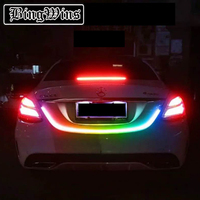 Car tail decoration LED accessories Light Dynamic Streamer Floating LED Strip 12v Auto Trunk Tail Brake Running Turn Signal Lamp