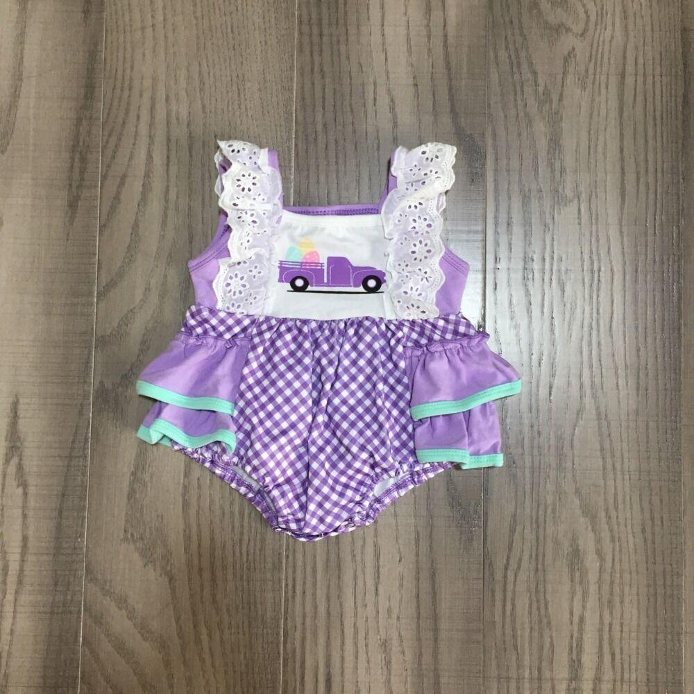 Baby Clothes Baby Easter Truck Romper Infant Toddler Romper Baby Lavender Romper Wholesale