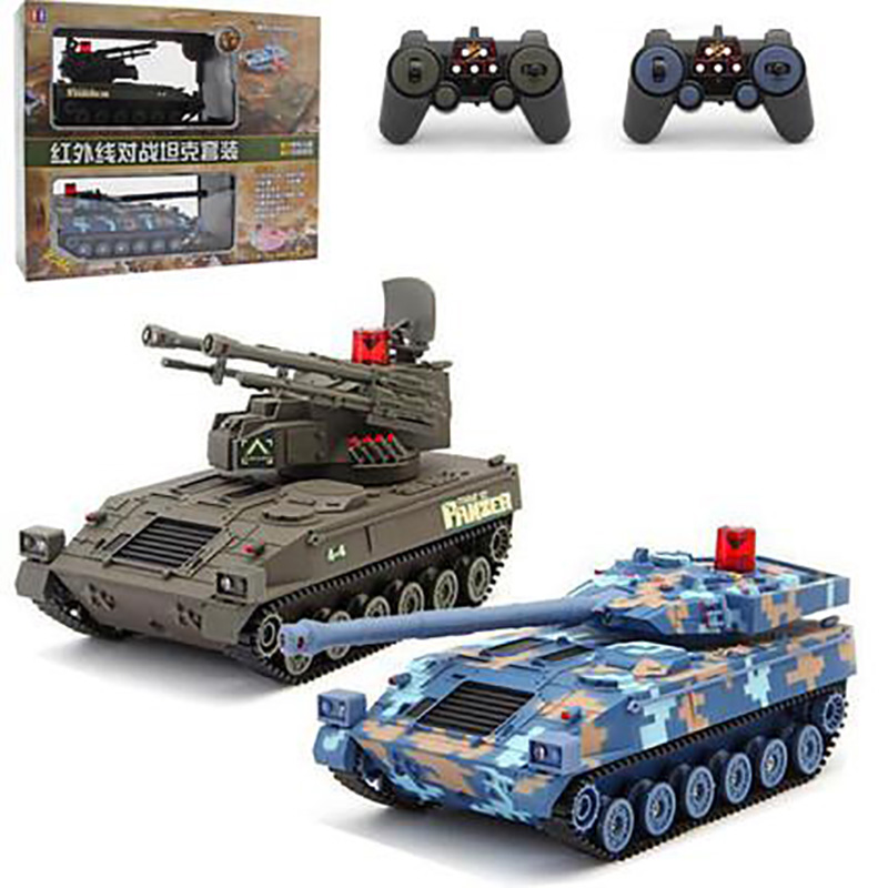 RCtown High Simulation RC War Car Army Vehicle Main Battle RC Tank Remote Control CarElectronic Gifts for Boys #X0708