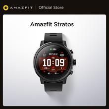 Orijinal Amazfit Stratos Smartwatch akıllı Bluetooth saat GPS kalori sayısı 50M su geçirmez Android iOS telefon için