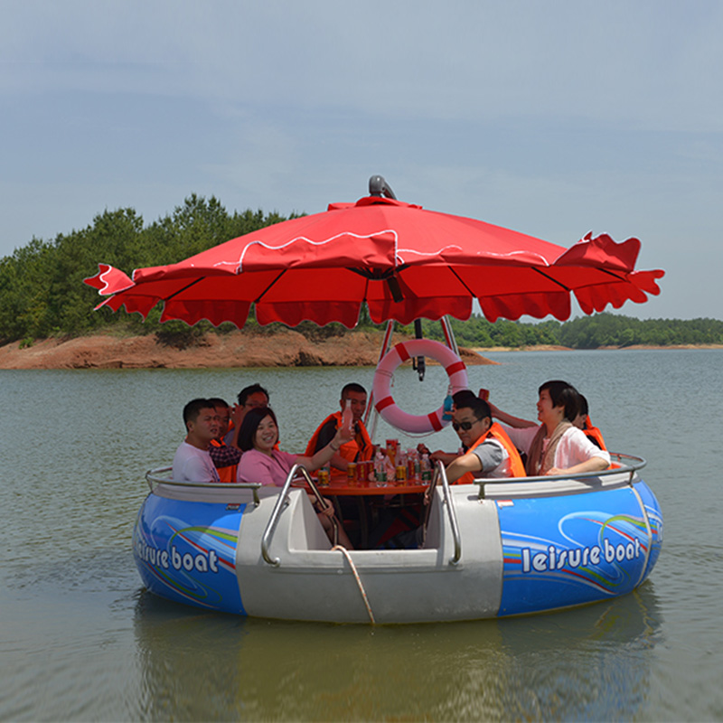 Electric BBQ Boat Sightseeing Boat Water BBQ Leisure Fishing Boat Scenic Tourist Equipment Entertainment