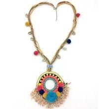 Новинка ожерелье в стиле бохо ручная работа Ловец снов помпоны