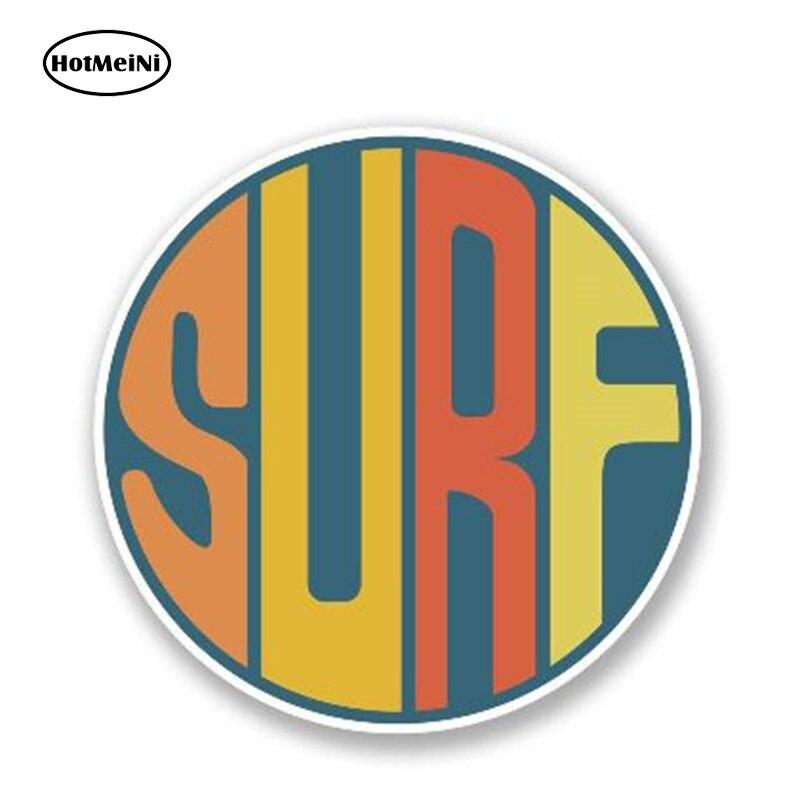 HotMeiNi 13cm X 13cm Surf Surfing Surfboard Vinyl Decal Car Truck Window Funny Vinyl Decal Waterproof Car Styling Accessories