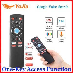 Image 1 - 미니 2.4G 무선 음성 에어 마우스 자이로 원격 제어 IR 학습 안드로이드 TV 박스 원 키 액세스 기능