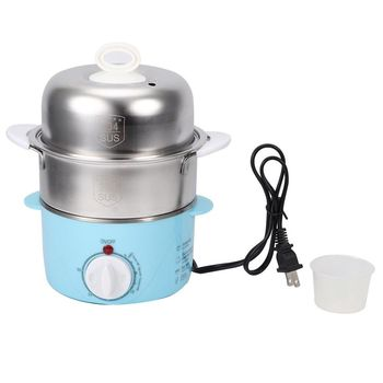 Electric Egg Boiler Double layer 14 Eggs Steamer Stainless Steel Steamed Corn Kitchen Cooking Appliances US Plug 120V 150W