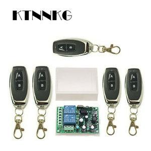 Image 1 - 433 Mhz Telecomando Universale Senza Fili Interruttore di Controllo AC220V 110V 2CH Relè Modulo Ricevitore & RF 433 Mhz per la Luce interruttore KTNNKG