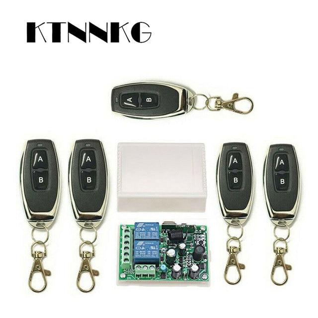 433 Mhz Telecomando Universale Senza Fili Interruttore di Controllo AC220V 110V 2CH Relè Modulo Ricevitore & RF 433 Mhz per la Luce interruttore KTNNKG