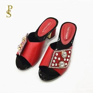 Image 3 - Chaussons pour femmes chaussons pour femmes nigérians avec diamants pour chaussures pour femmes