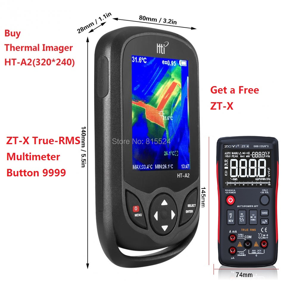 HT-A2 TFT Thermal Camera With Display Screen For Temperature  Measuring Tools 5