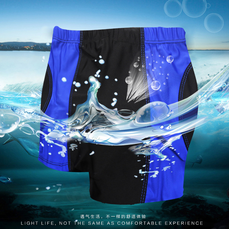 Summer Hot Selling Children Boxer Swimming Trunks Comfortable Breathable Hot Springs Beach Mixed Colors Quick-Dry Shorts