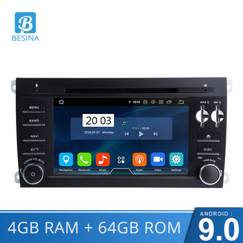 Besina Android 9.0 2 Din Car Radio For Porsche Cayenne 2003-2010 4G RAM GPS Navi Wifi Auto Audio Octa Cores CD DVD Video Player