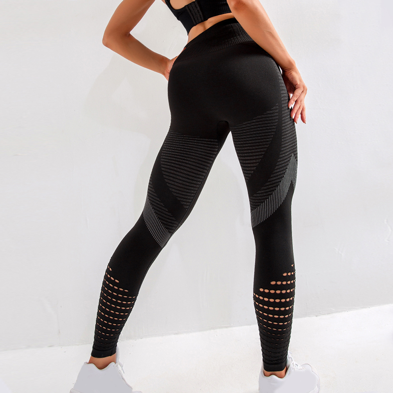 High Waist Seamless Leggings For Women Hollow out Gym legging Super Stretchy Fitness leggings Jogging Trousers