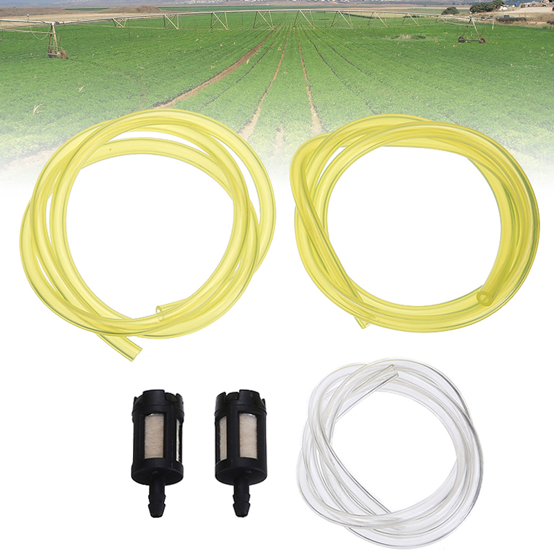 5pcs Strimmer Chainsaw Fuel Line Pipe And Filter Kit For Strimmers Chainsaws Tool Parts Brushcutter Replacement