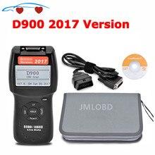 2017.6 إصدار D900 OBD2 الماسح الضوئي D900 رمز القارئ أداة تشخيص CANBUS D 900 EOBD OBD2 الماسح الضوئي للسيارات متعددة