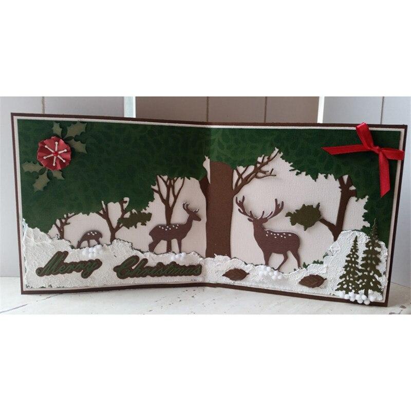 Naifumodo Christmas Deer Set Metal Cutting Dies Decor DIY New 2019 Scrapbooking for Card Making Embossing Stencil Paper Album