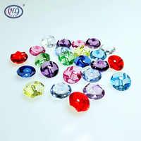 HL 30 piezas 12mm Color mezclado transparente acrílico botones ropa accesorios costura manualidades