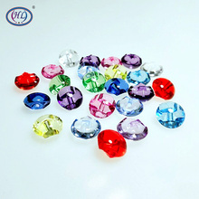 HL 30pcs 12mm Mixed Color Transparent Acrylic Buttons Apparel Sewing Accessories DIY crafts