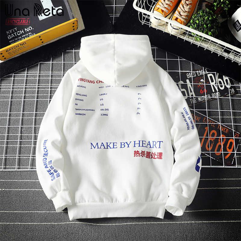 Unareta fleece hoodie men 겨울 뉴 힙합 남성 까마귀 스웨터 패션 하라주쿠 풀오버 mens streetwear sweatshirts